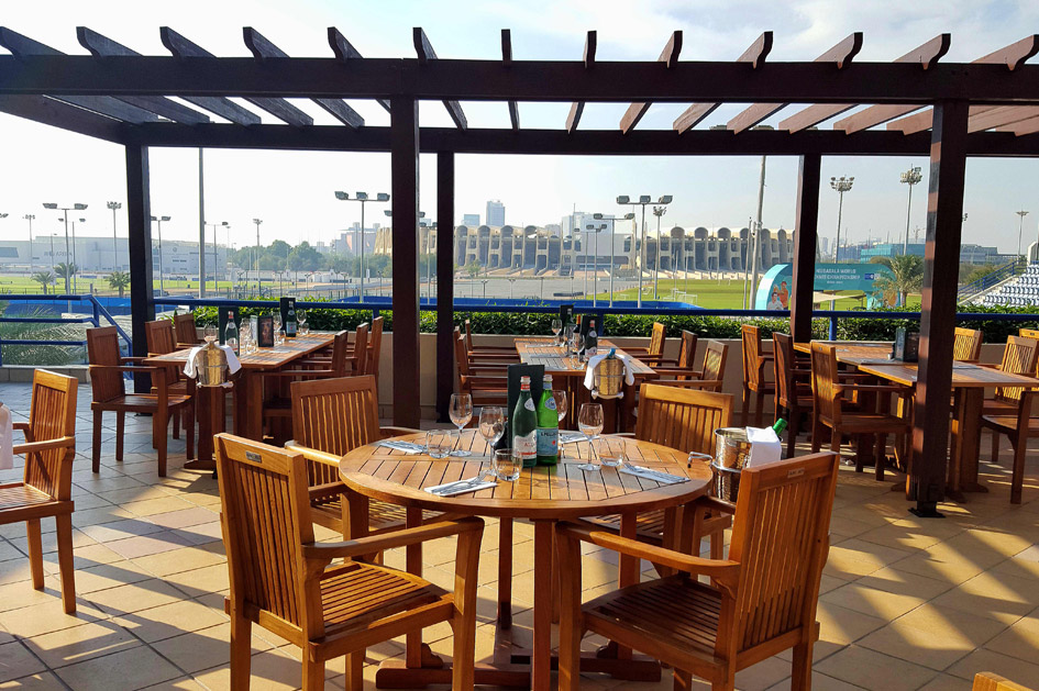 Outdoor Terrace Restaurant The Sportsman's Arms Abu Dhabi